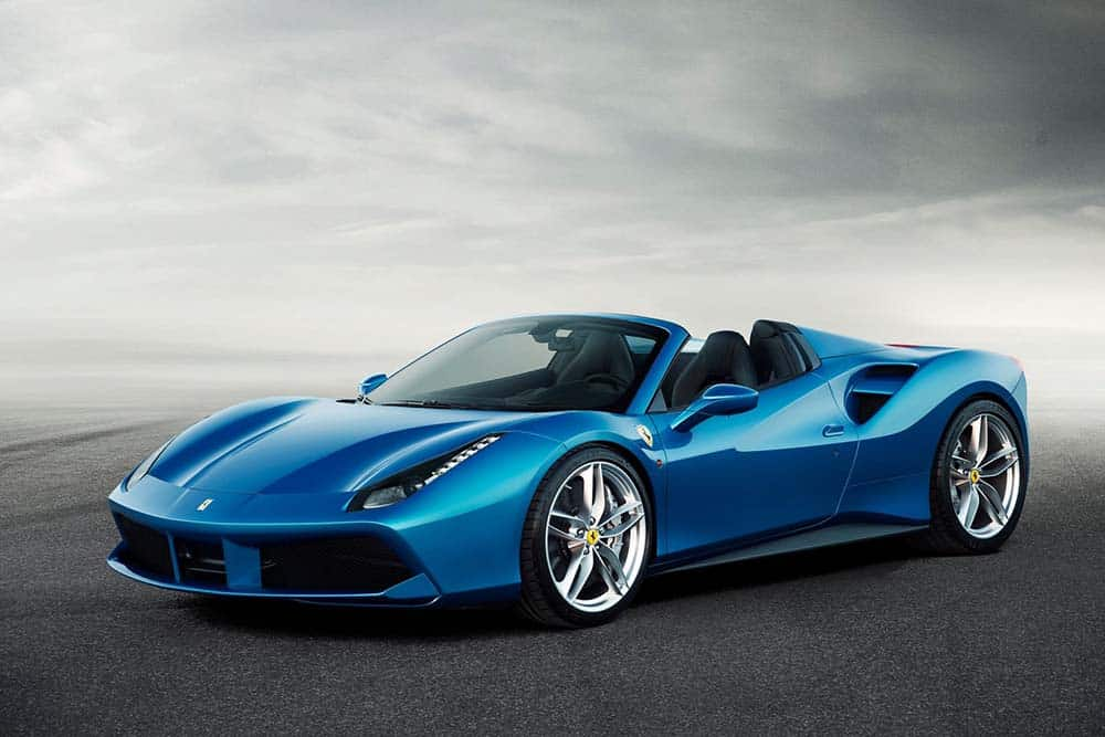 Ferrari 488 Spider car on Rent in Dubai