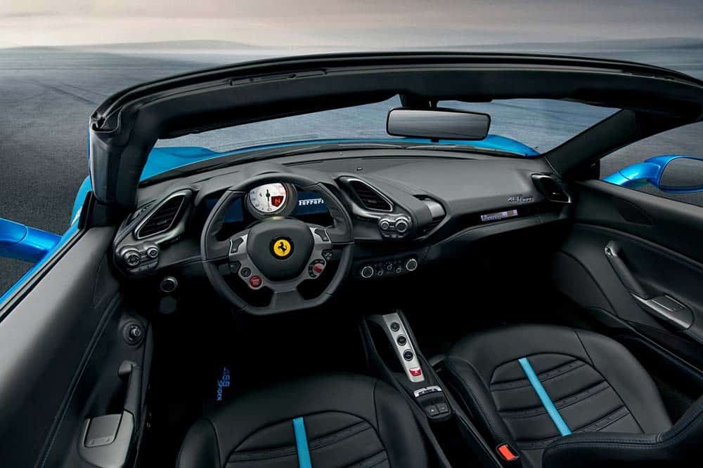 Ferrari 488 Spider car on Rent in Abu Dhabi
