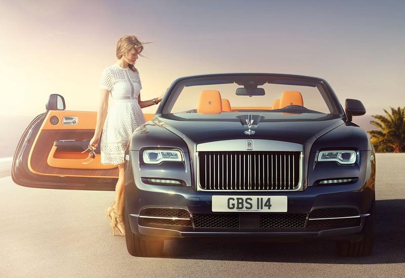 Rent Rolls Royce Dawn Car in Dubai