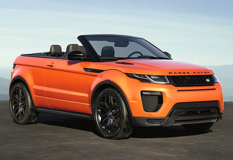 Rent Range Rover Evoque HSE Convertible Car in Dubai