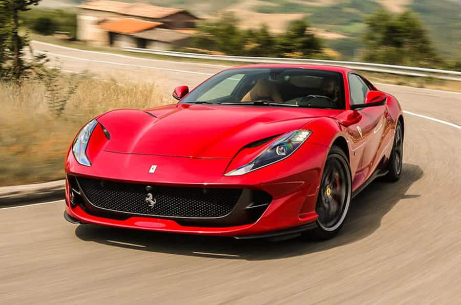 Ferrari 812 Superfast car on Rent in Dubai